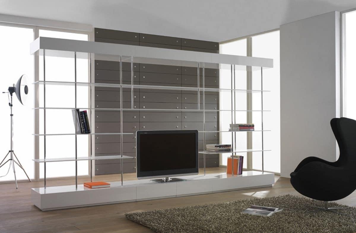 wohnzimmer raumteiler tv:Doppelseitige Bücherschrank für moderne Wohnzimmer, Wohnzimmer TV