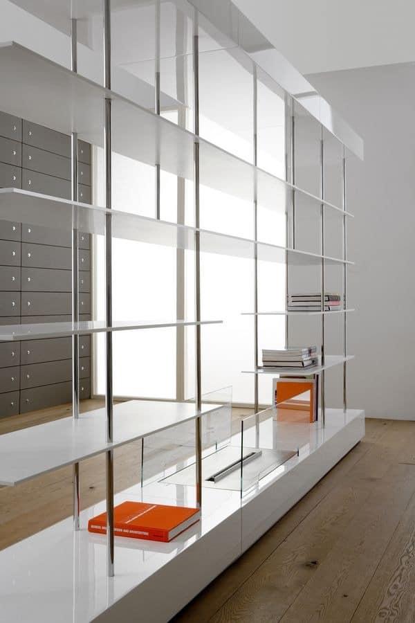 standing ovation doppelseitige b cherschrank f r moderne wohnzimmer wohnzimmer tv schrank. Black Bedroom Furniture Sets. Home Design Ideas