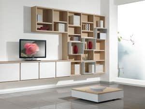 Tag Bibliothek 05, Anpassbare Möbel für Wohnräume und Büros