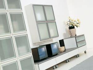 Tag Lara, Modulares System für Wohnzimmer, in elegantem Design