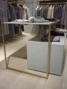 Einzelhandelsgeschäfte für Bekleidungsgeschäfte aus Messing, Metallmöbel für Geschäfte