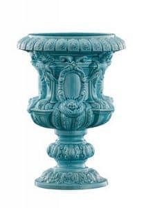Art. CB253, Reich Vase mit Blumenschmuck