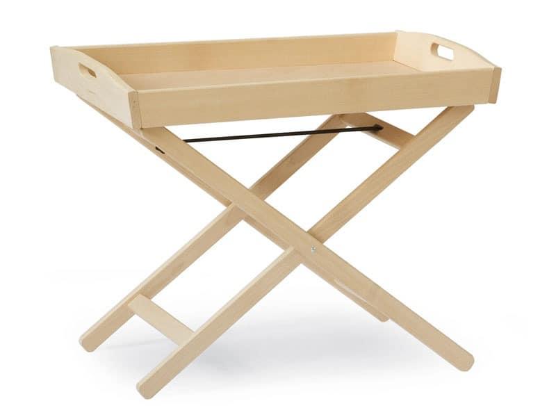 Tray-Tabelle, Stützstruktur für die Schale in Buche