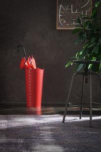 Umbrella, Roter Lederschirmhalter, erhältlich in anderen Farben