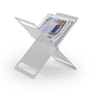 X Zeitungsständer, Zeitschriftenständer in lackiertem Blech