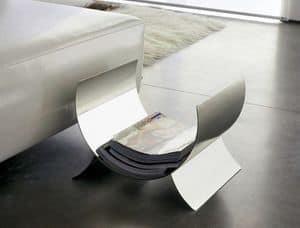 Flex, Zeitschriftenständer aus Stahl, für zu Hause und im Büro