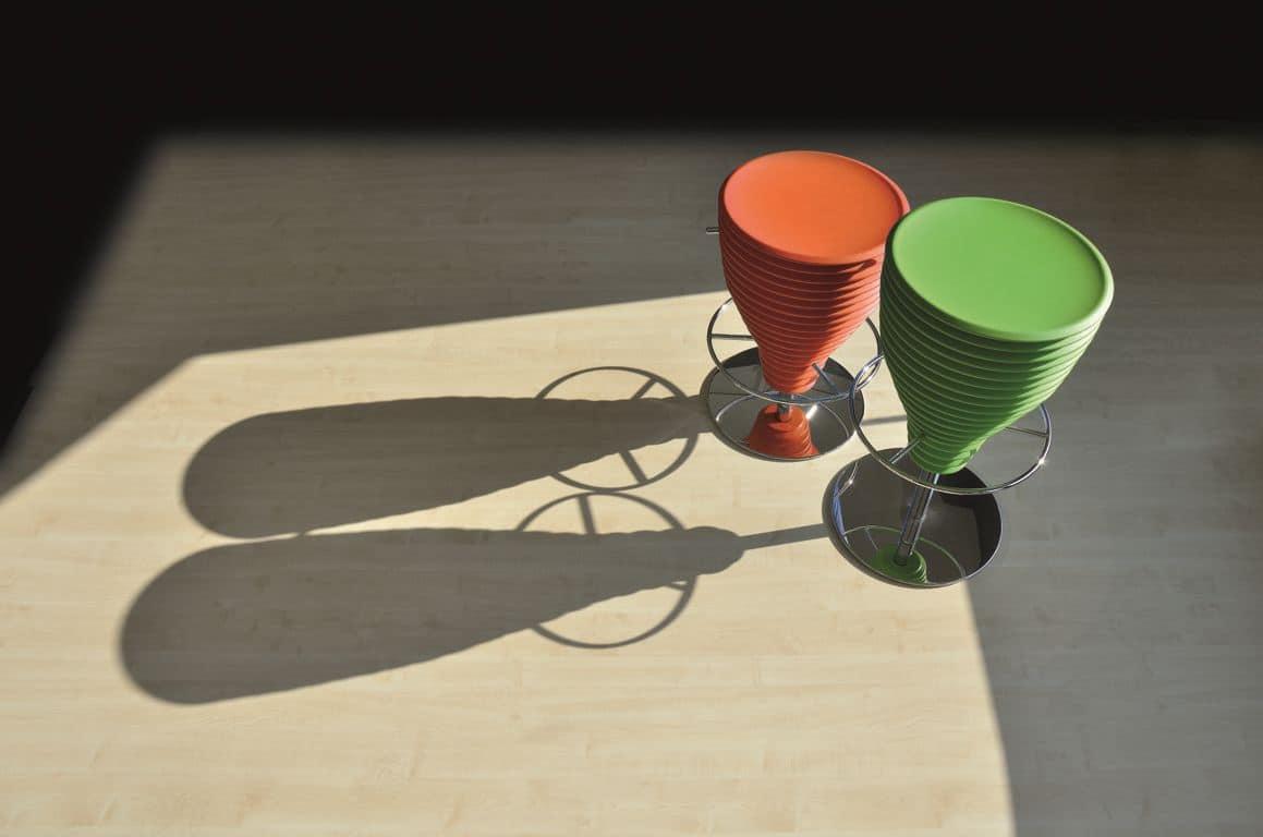 Bongo, Moderne Barhocker, Originallackierung, schwenkbar
