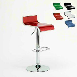 Design Küche hohen Barhocker Florida – SGA041FLO, Verstellbarer Hocker, drehbar 360 °, mit Fußschemel
