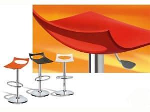 Diavoletto stool, Drehhocker, höhenverstellbar mit Gasfeder