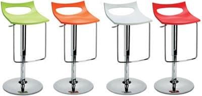 Diavoletto u stool, Barhocker, höhenverstellbar, Gas-Lift