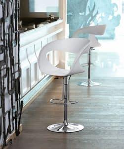 Raff SG, Design Barhocker höhenverstellbar, für Küche und Bar