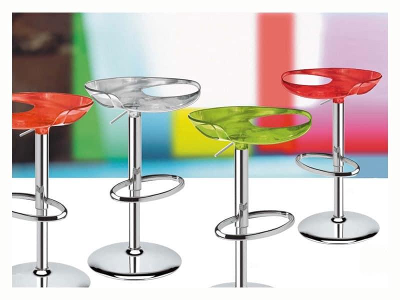 Zoe stool, Schwenker und verstellbarer Stuhl, verschiedene Farben