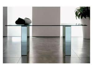 Area, Esstisch mit Glasplatte, lackiert Struktur