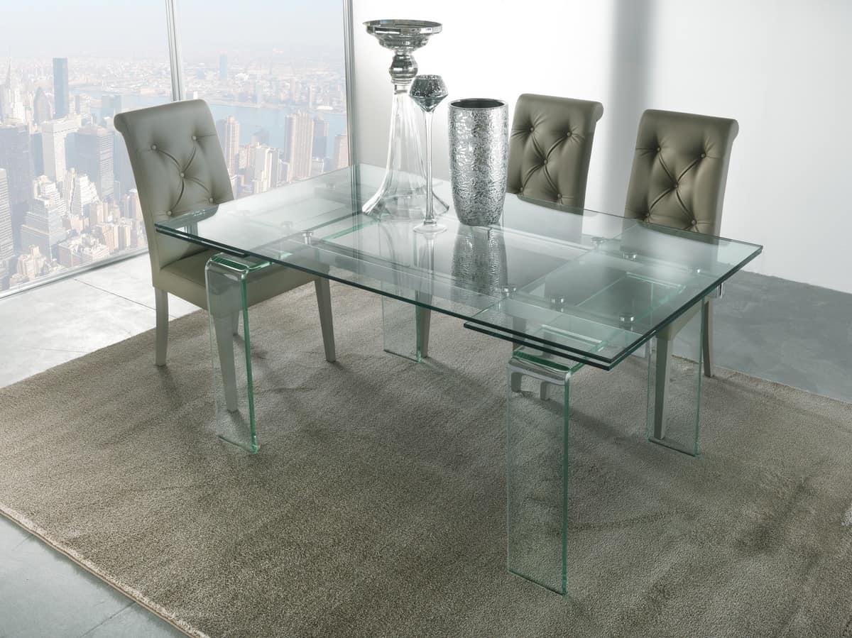 tisch mit beinen und ausfahrbaren glasplatte | idfdesign, Hause ideen