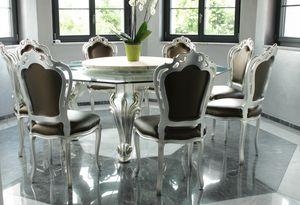 Dolce Vita, Esstisch mit achteckiger Glasplatte