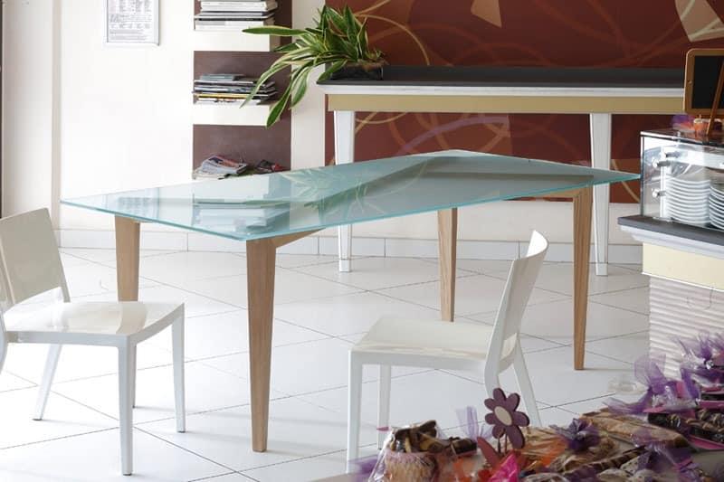 holztisch mit glasplatte f r esszimmer idfdesign. Black Bedroom Furniture Sets. Home Design Ideas