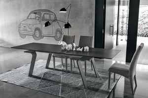 HERCULES TA125, Erweiterbar rechteckigen Tisch, modernen Stil