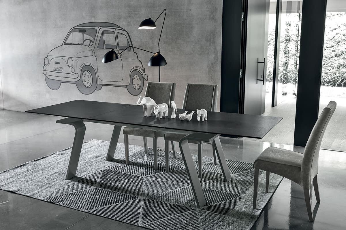 Erweiterbar rechteckigen Tisch, modernen Stil | IDFdesign