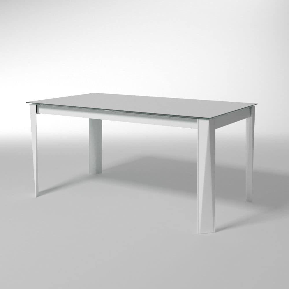 Romeo, Ausziehbarer Tisch, Glasplatte, Für Esszimmer