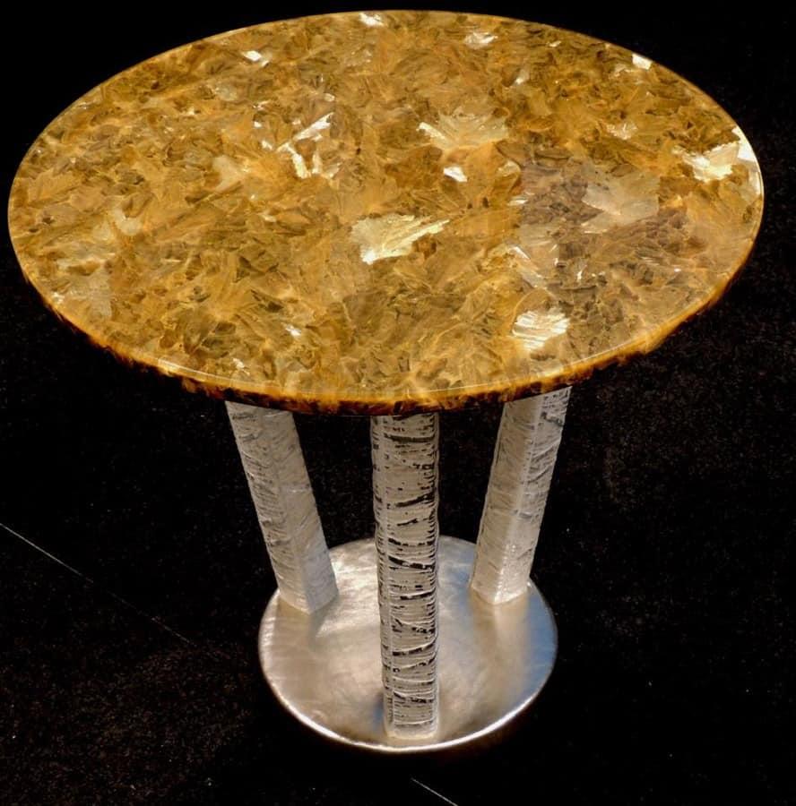 Runder tisch f r esszimmer mit oben in alabaster idfdesign for Runder tisch esszimmer