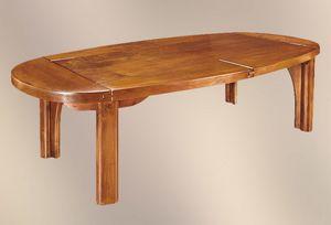 191, Massivholztisch mit ovaler Platte