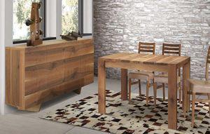Art. 658, Tisch aus massivem Nussbaumholz