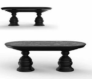 Frames Art. T02, Ovaler Tisch mit Marmorplatte