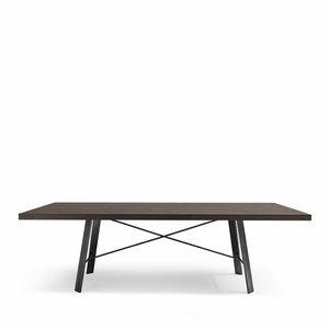 Hermitage tisch, Rechteckiger Tisch aus Holz für moderne Esszimmer geeignet