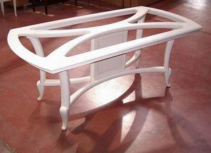 Hilton Tisch, Elfenbein lackierter Esstisch