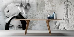 London, Eleganter Tisch aus Massivholz, Canaletto Nussbaum oder Eiche