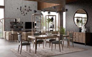 Sunrise Tisch, Esstisch aus Holz mit minimalistischem Design