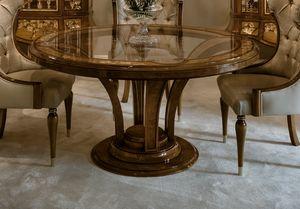 Tabelle 1436, Esstisch aus Kastanienwurzel