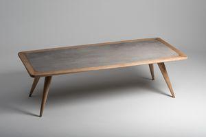 Vertigo Esstisch, Naturholztisch mit Feinsteinzeug-Top