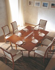 Villa Borghese Esstisch 3374, Esstisch im Directoire-Stil mit drehbarer Platte