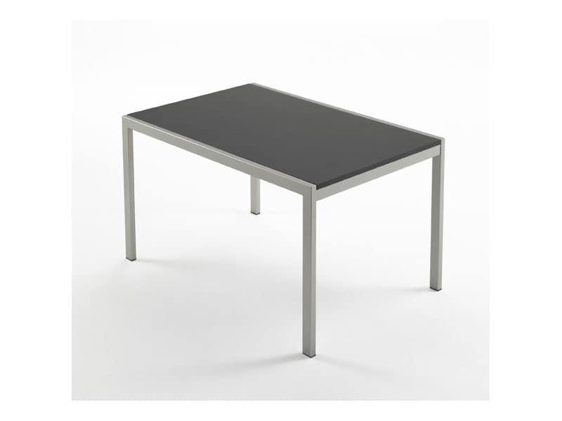 Re table, Moderner Esstisch, in Buche, für Zuhause
