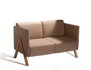 Vision 570S, Sofa mit Stoff, Vinyl oder Lederpolsterung
