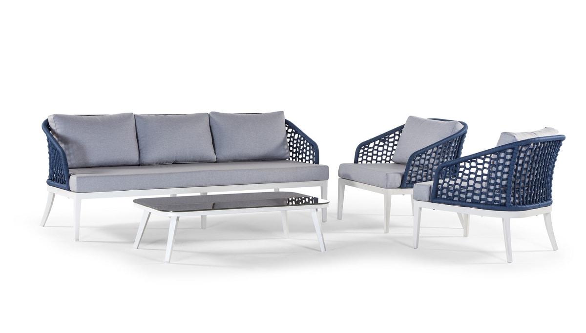 Aruba/Guadalajara, Outdoor-Set mit Sofa und Beistelltisch