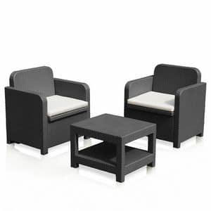 sonnenliege aus polyrattan mit rollen und armlehnen aus idfdesign. Black Bedroom Furniture Sets. Home Design Ideas