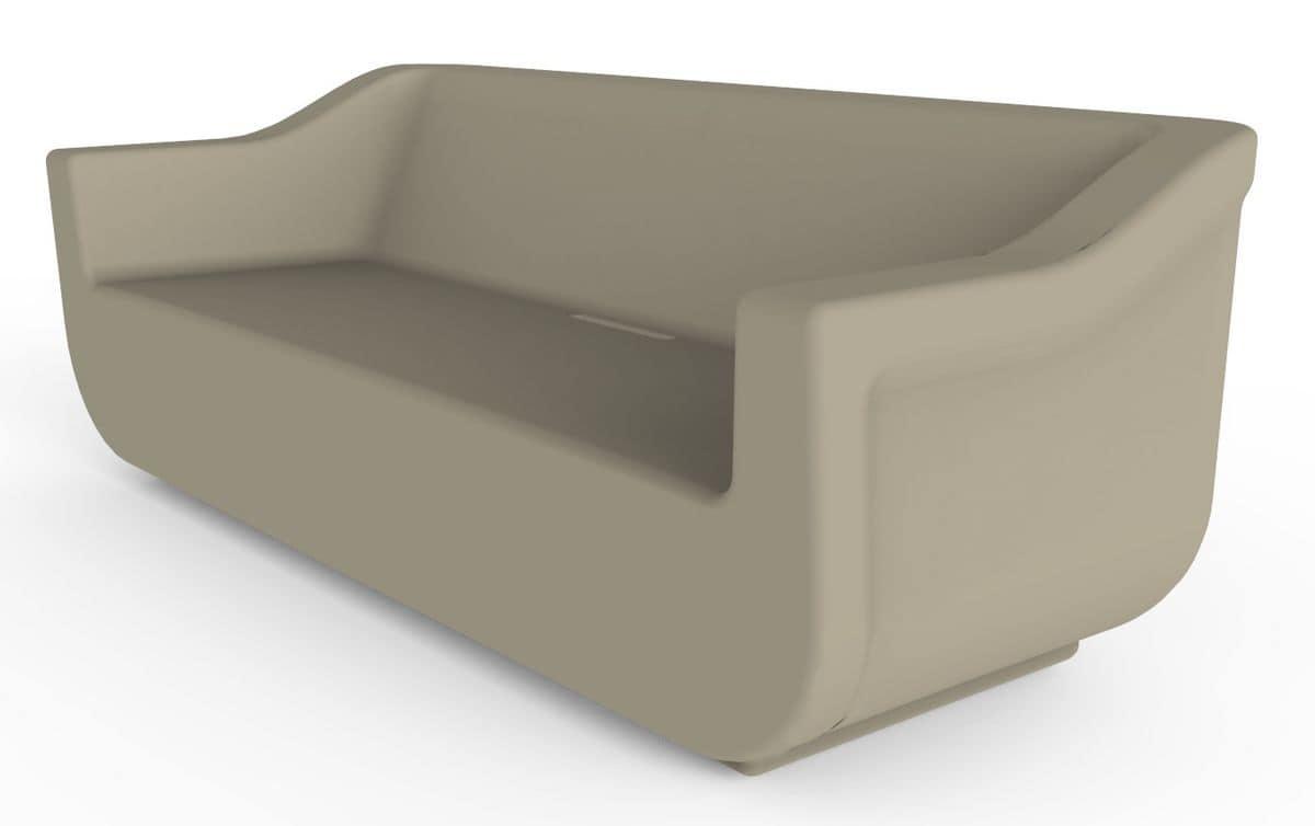 Cliff Set, Polyethylen Garten Sessel, Sofa und Couchtisch