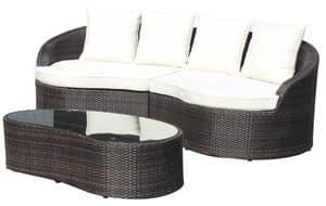 Ibiza Set, Set für externe, geflochten aus Aluminium, für Gärten