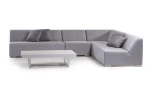 MIKONOS SET, Gartenset mit modularem Sofa aus Schaumstoff
