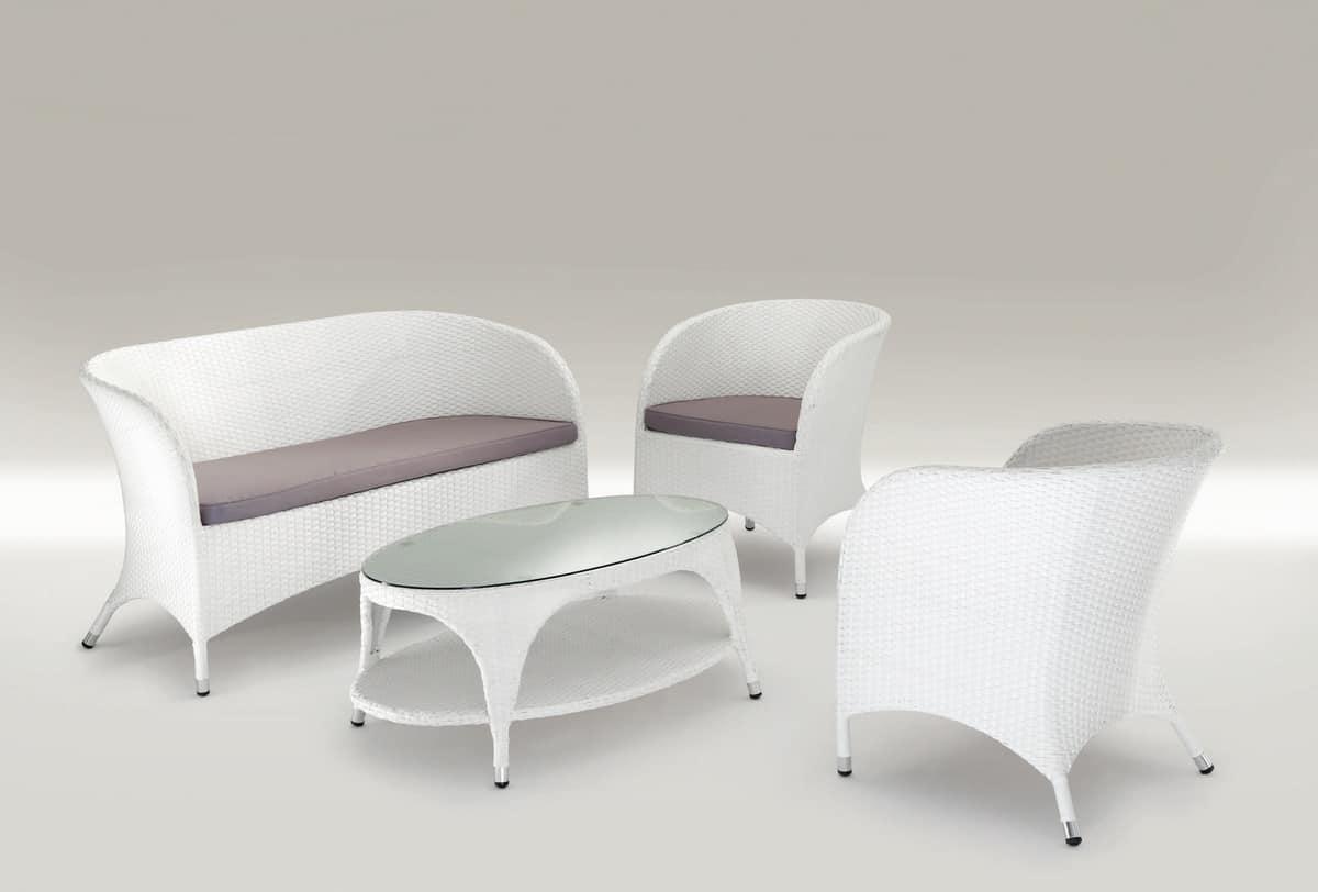 Set Gartenmöbel, gewebt aus Aluminium, für Bars | IDFdesign