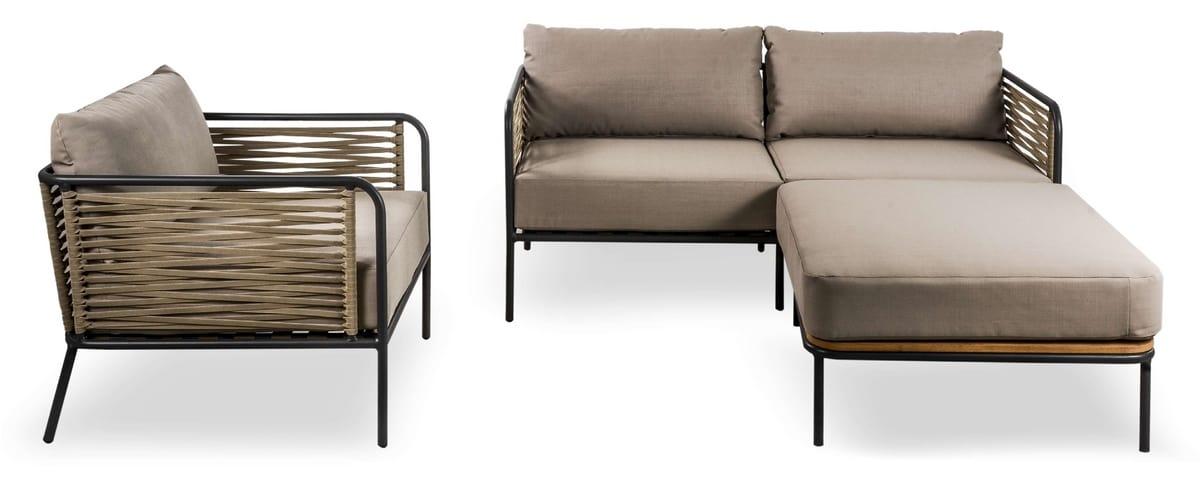 SET CORTINA, Set von Sofas und Sessel für den Außenbereich