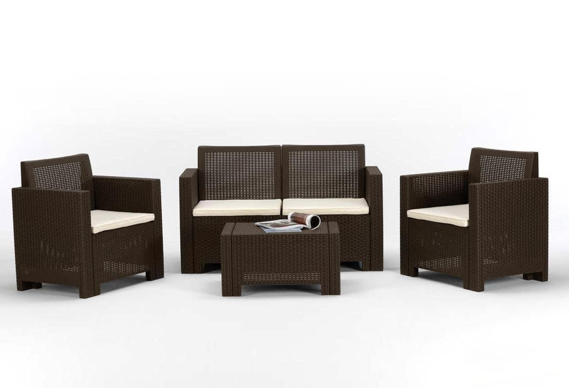garten m bel in synthetischen polyrattan idfdesign. Black Bedroom Furniture Sets. Home Design Ideas