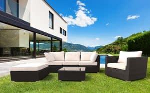 Bar gewebte Rattan Garten Möbel gesetzt Santa Monica – SM935RAT, Gartenmöbel -Set, Sofa und Sessel für den Garten