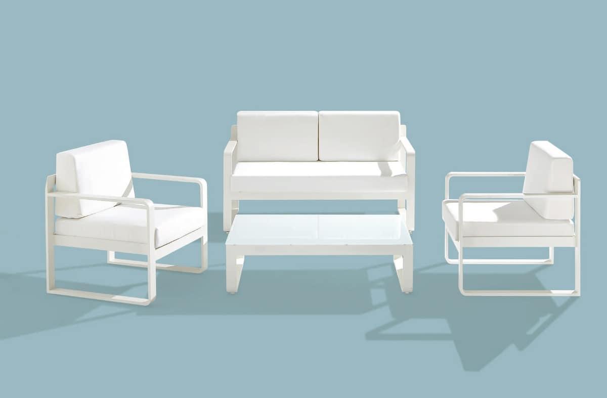 Star Set, Set Gartenmöbel, Alu-Rahmen, verschiedene Farben