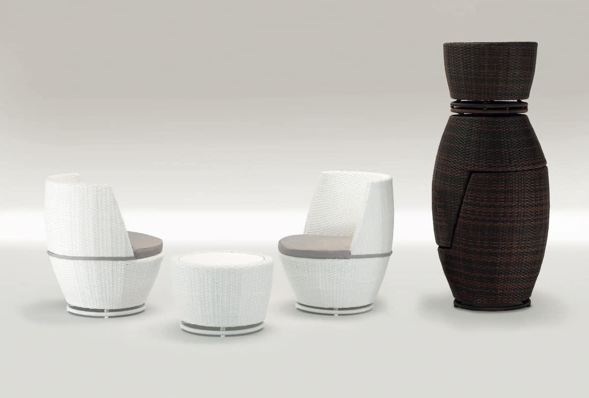 Totem Set, Gartenmöbel-Set, für Outdoor-Restaurants