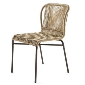 Cricket Stuhl, Gewebte Stuhl, Metallgestell, für Garten-und Outdoor-Bar
