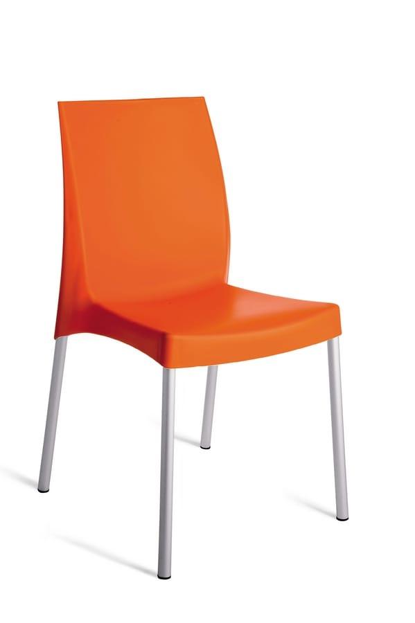 SE 3340, Stapelbarer Gartenstuhl mit rutschfesten Füßen