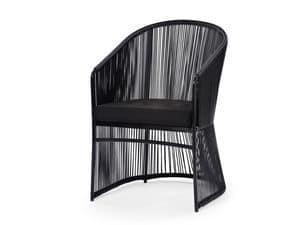 Tibidabo Sessel, Lehrstuhl für Kunstfaser und Aluminium geeignet für den Außenbereich